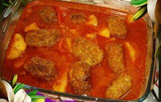 طرز تهیه شامی کباب آبدار با گوجه